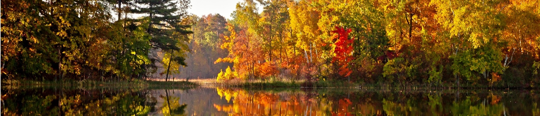 autum reflection on lake