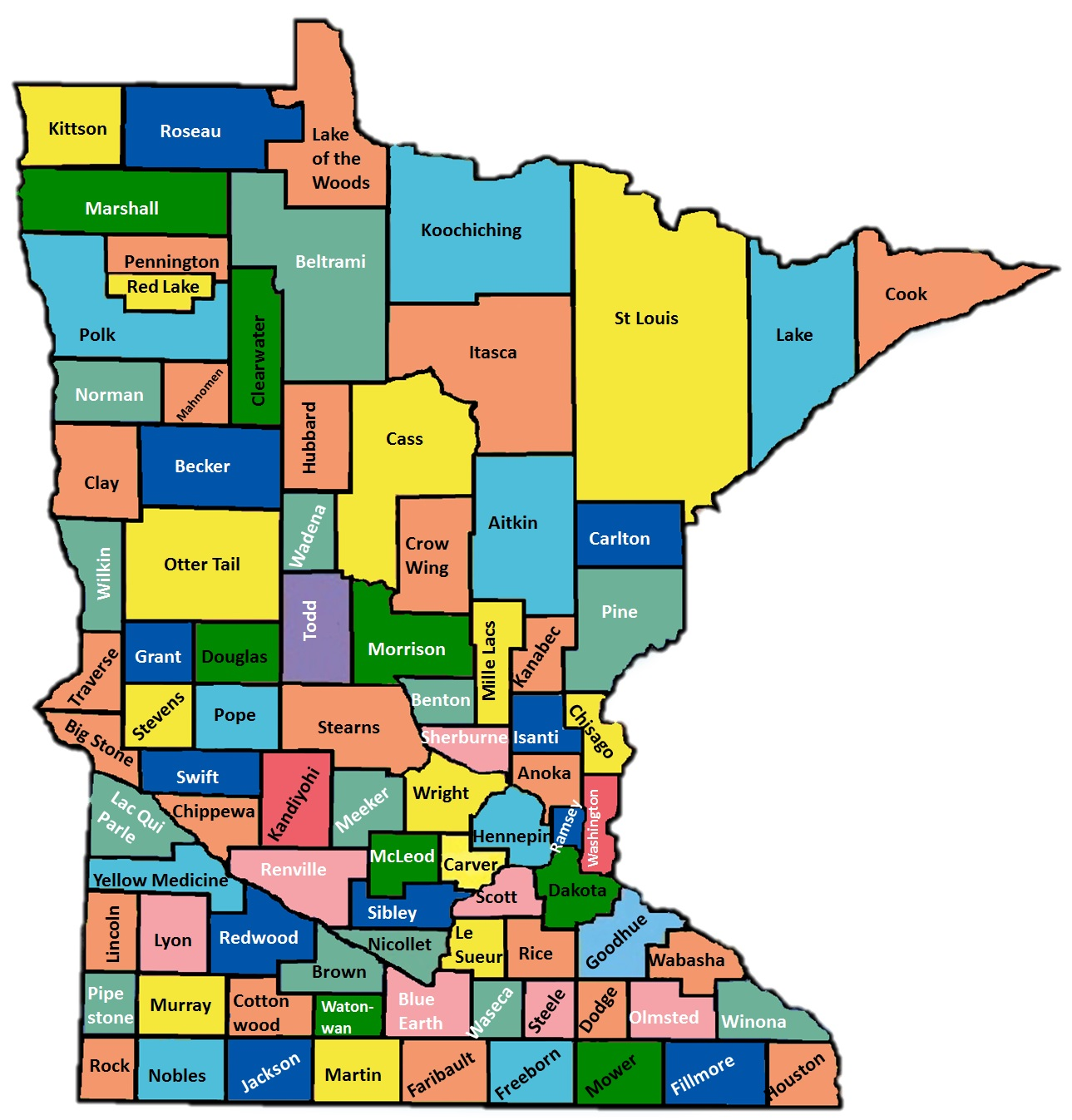 map of MN counties